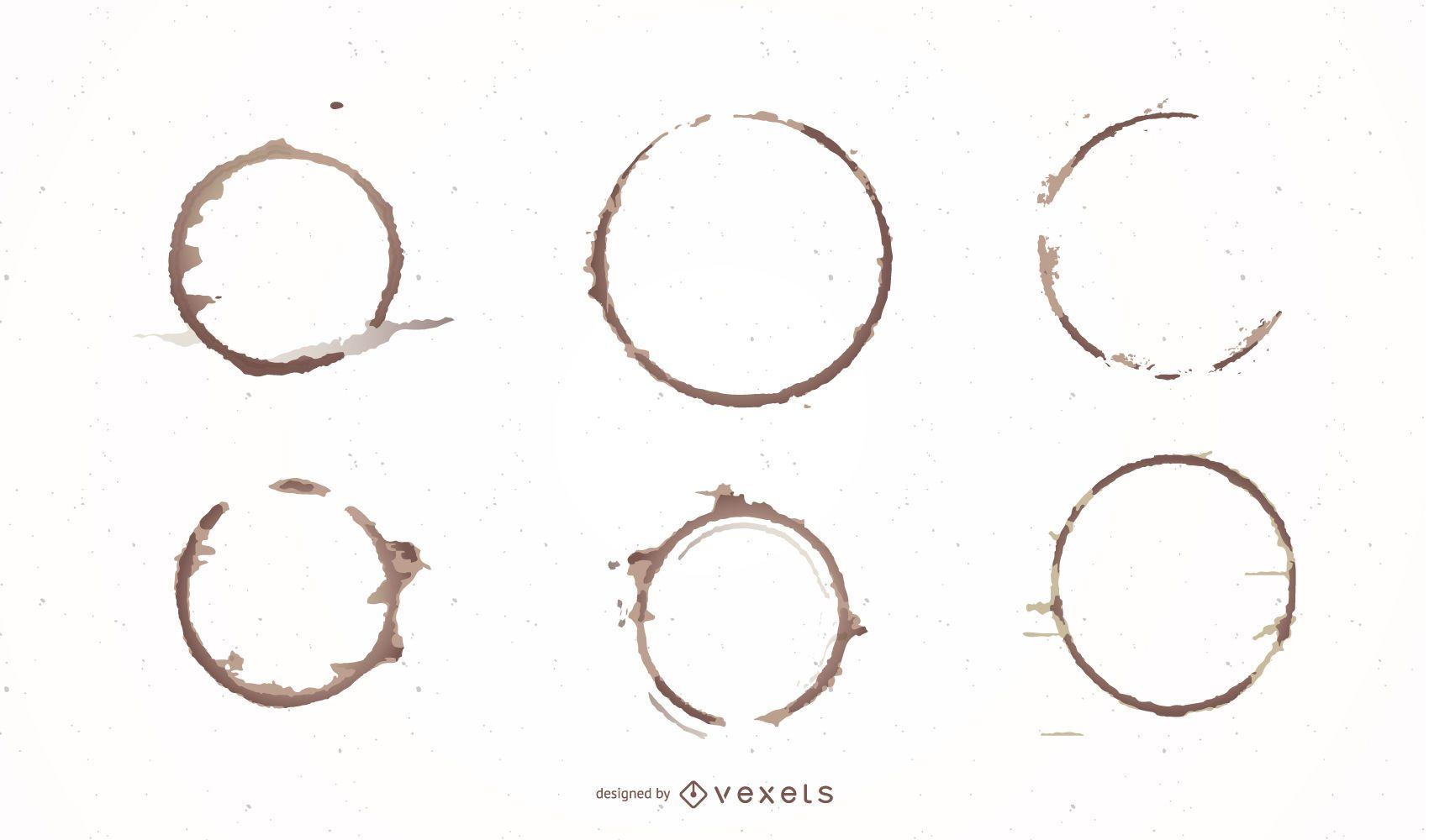 Conjunto de diseño de anillo de café