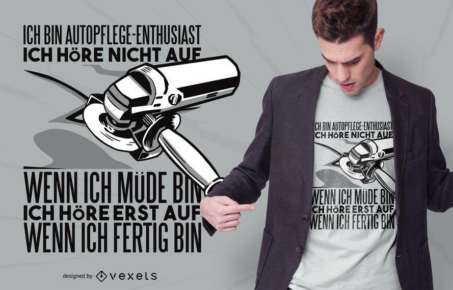 Car Care Enthusiast Quote T-shirt Design