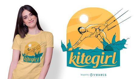 Diseño de camiseta Kitegirl