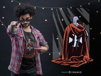 Projeto do t-shirt do cavaleiro do cruzado
