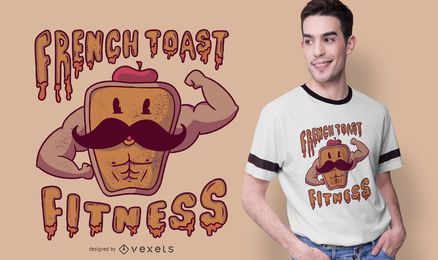 Diseño de camiseta French Toast Fitness
