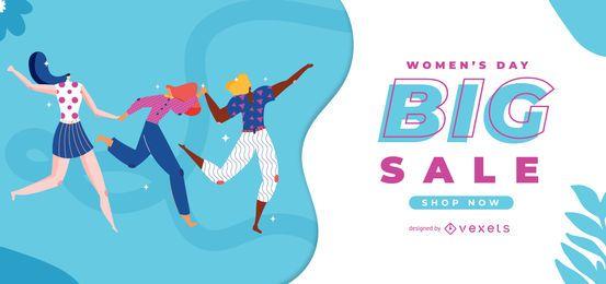Control deslizante de venta del día de la mujer