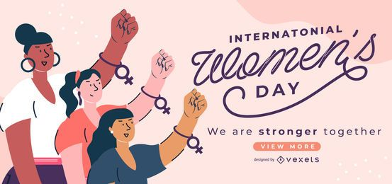 Schieberegler zum Internationalen Frauentag