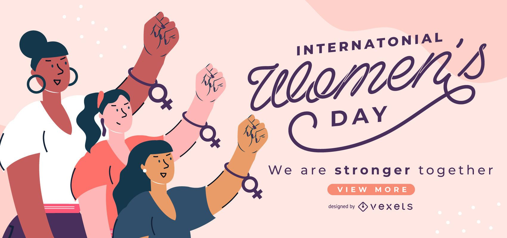 Controle deslizante do Dia Internacional da Mulher