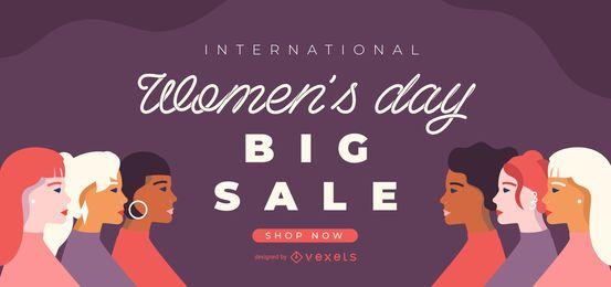 Control deslizante de venta del día internacional de la mujer