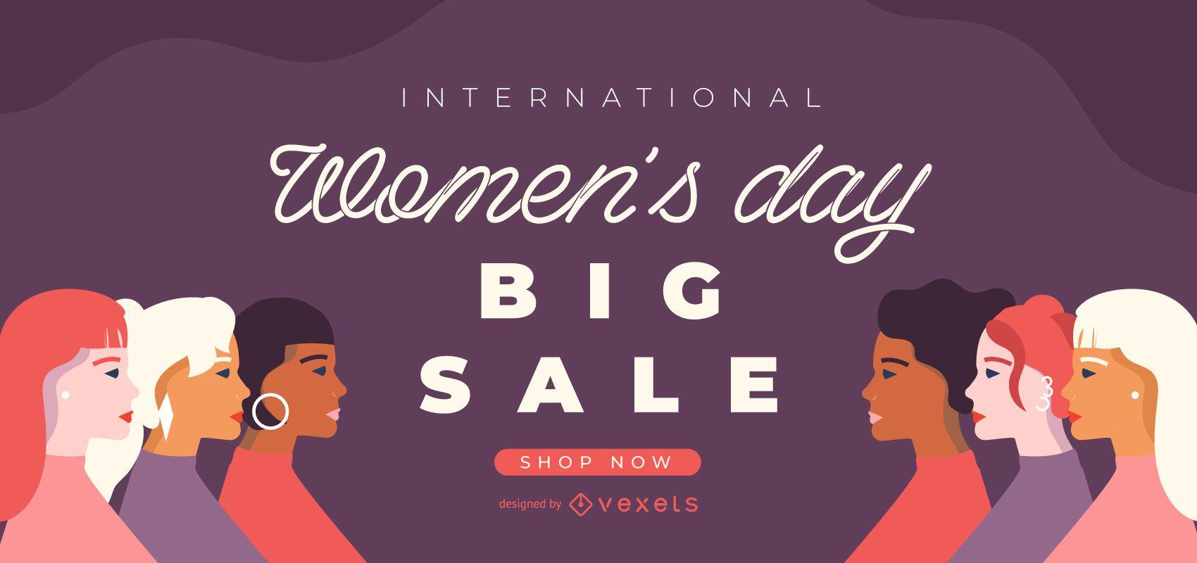 International Women's day sale slider