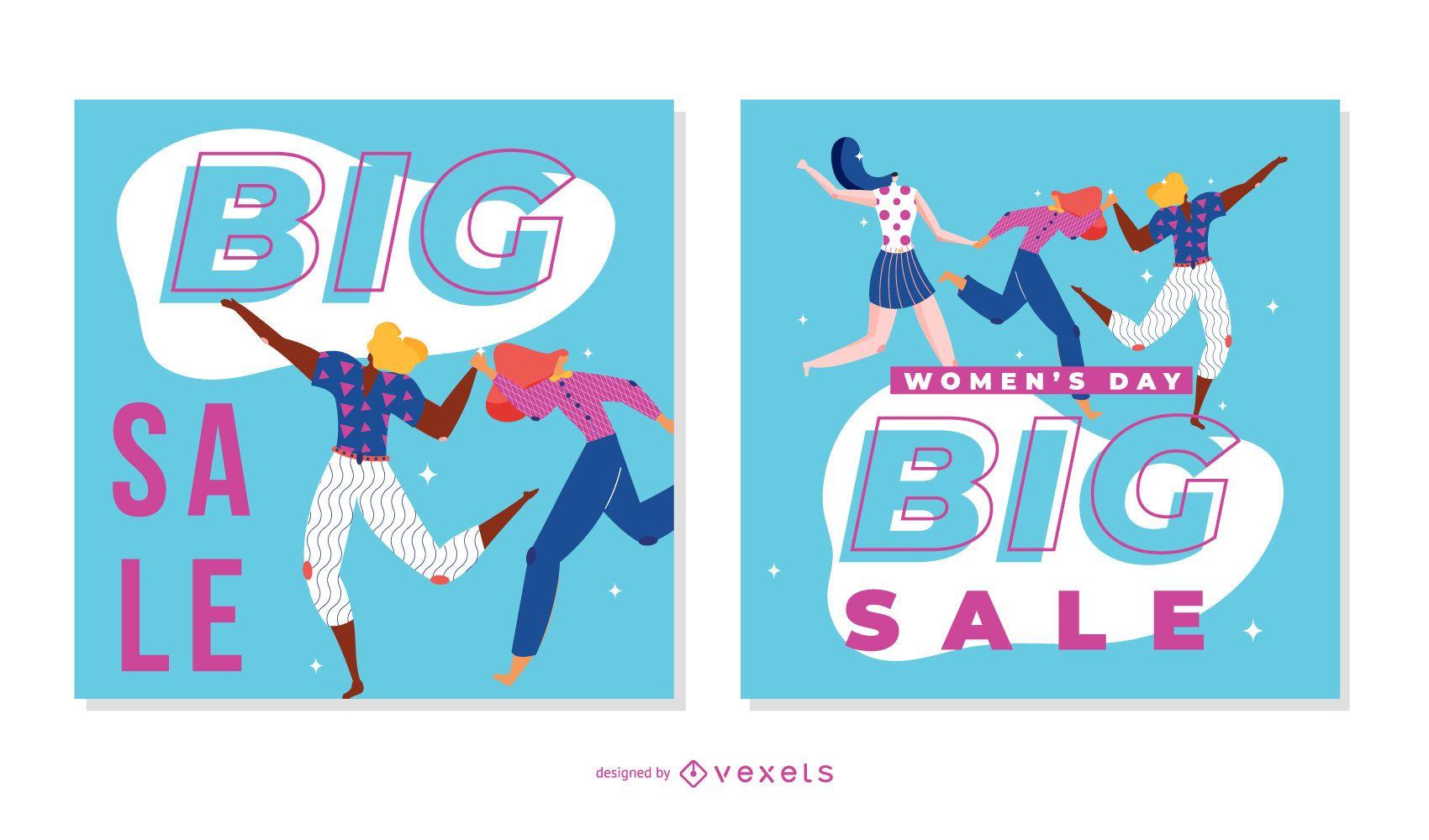 Women's day sale banner set