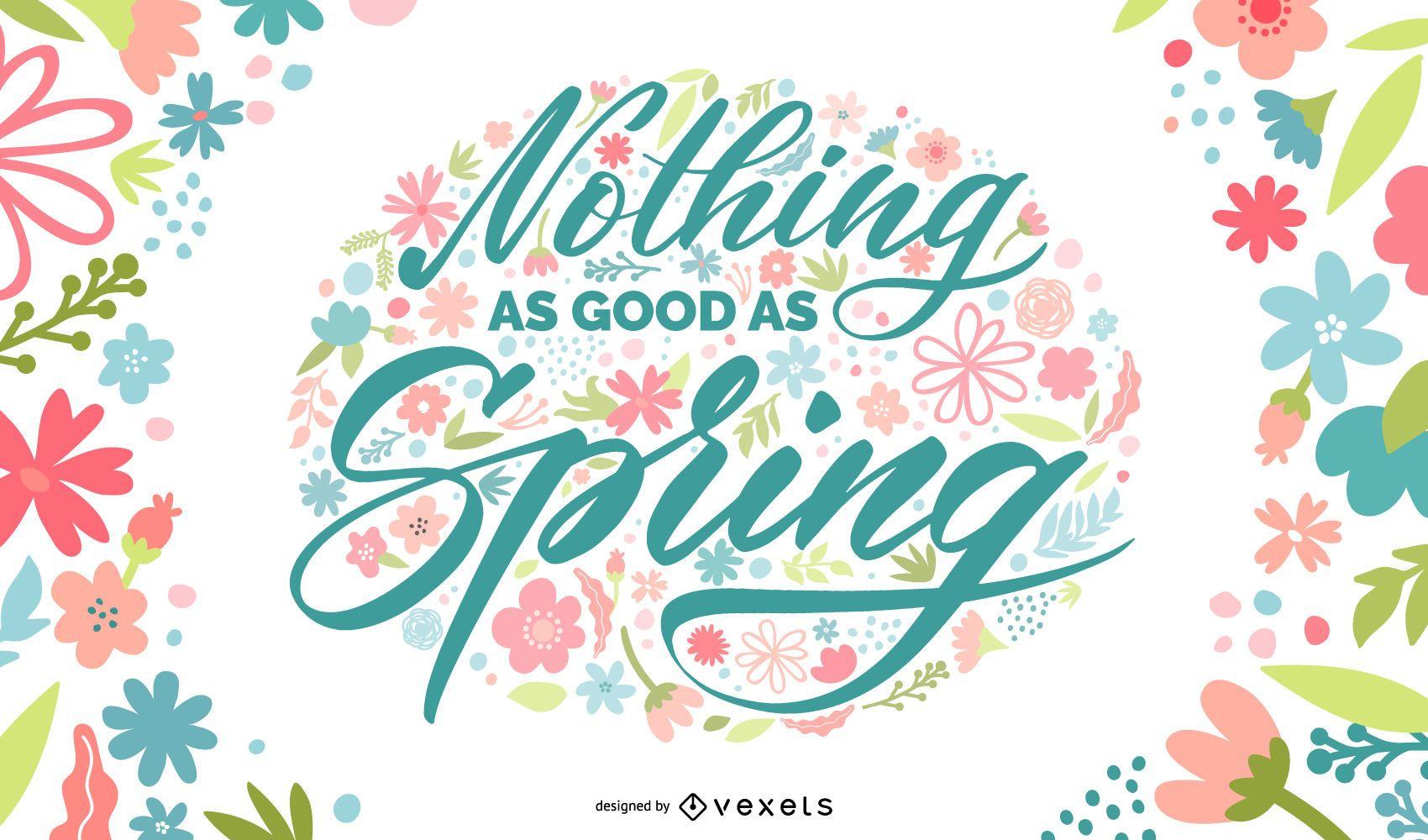 Spring floral lettering design