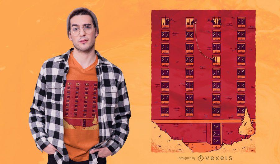 Party Building T-shirt Design