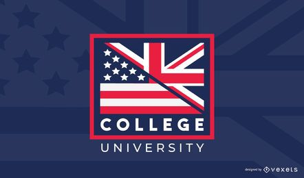 College US UK Logo Design