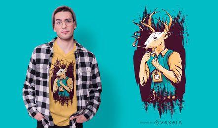 Design de t-shirt de homem de veado