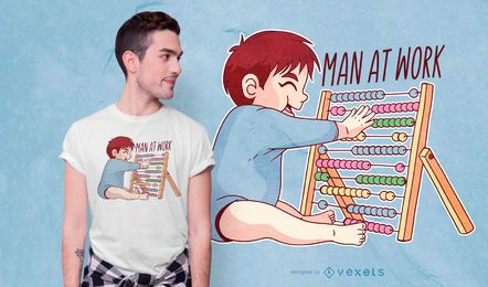Child Abacus T-shirt Design