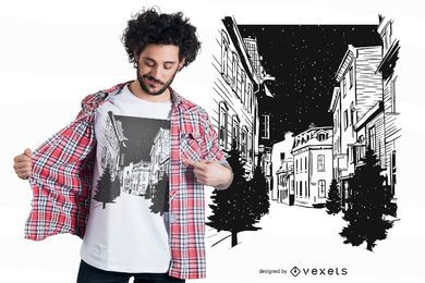 Quebec Streets T-shirt Design