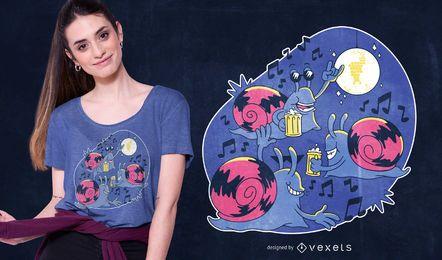 Snail Party T-shirt Design