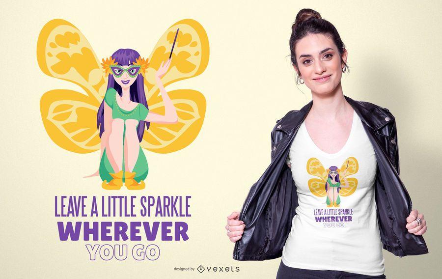 Diseño de camiseta de hadas de Mardi Gras