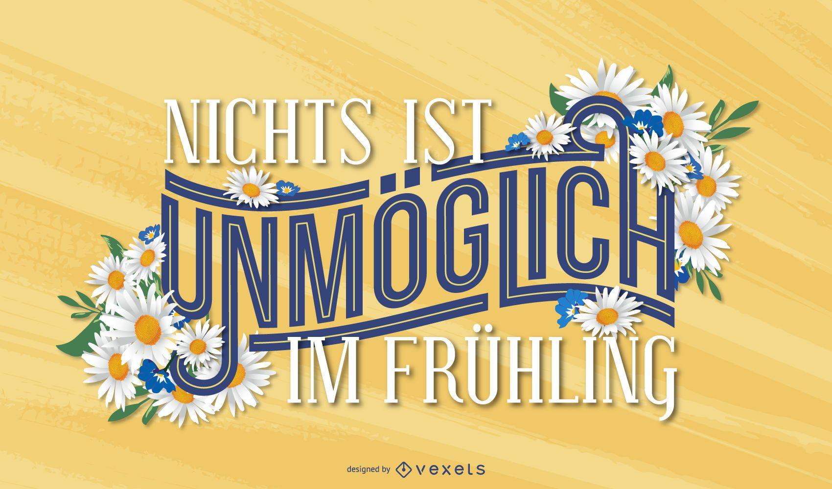 Diseño de letras alemanas de primavera