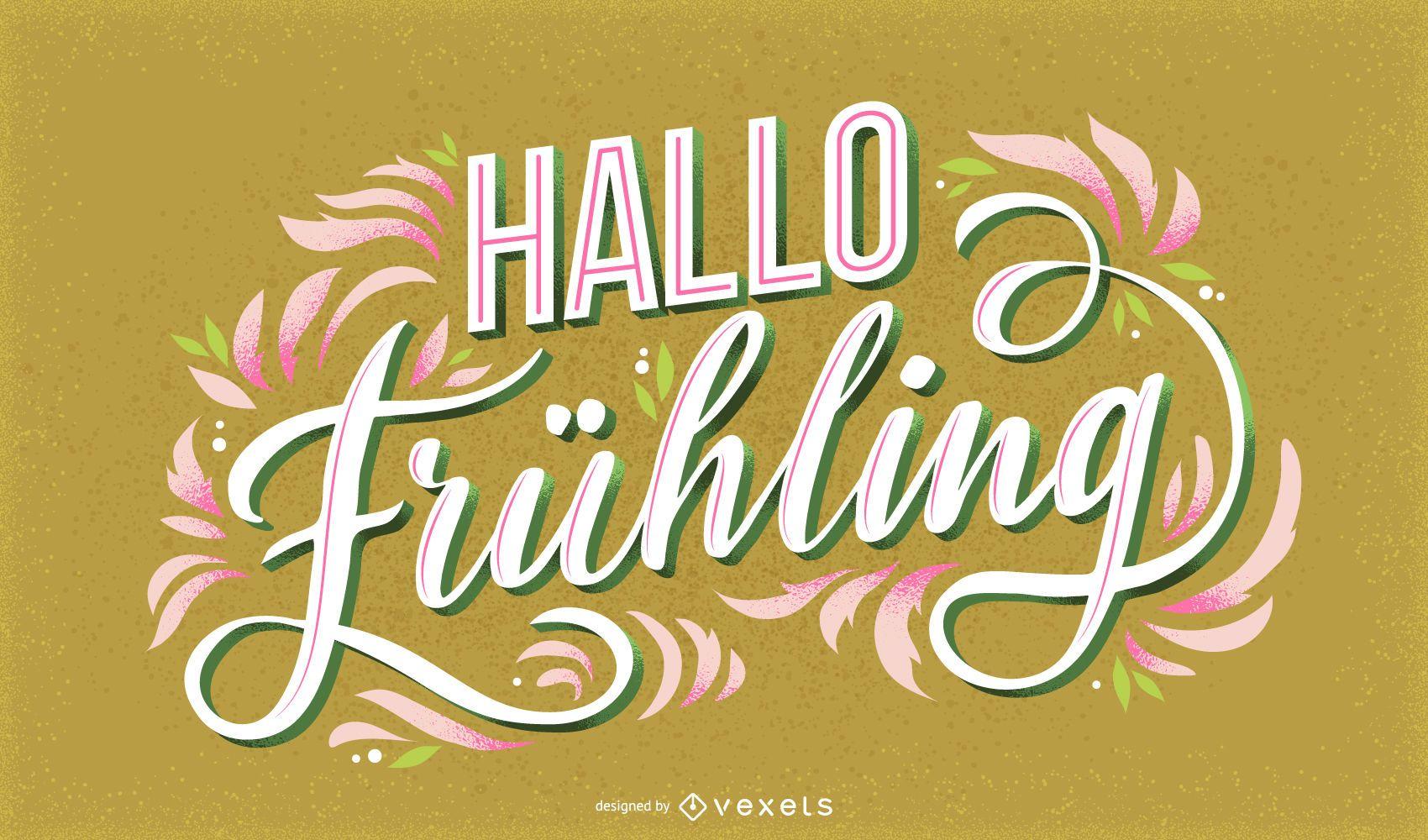 Hola primavera letras alemanas
