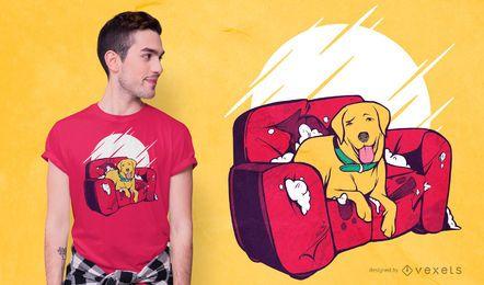 Diseño de camiseta divertida de Bad Dog