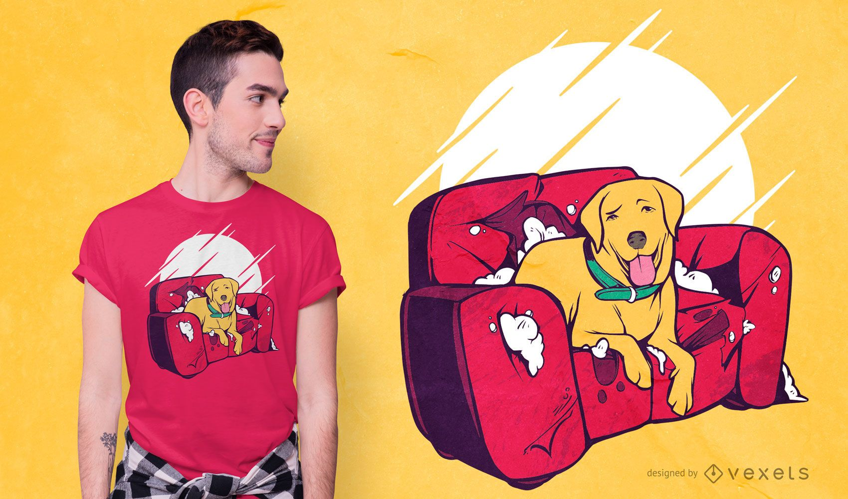 Bad dog funny t-shirt design