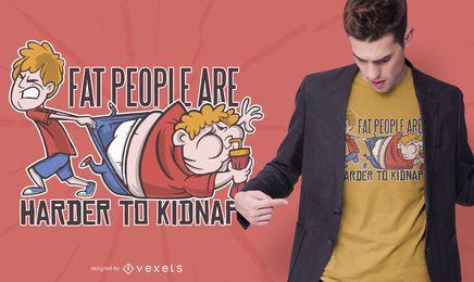 Design de camisetas engraçadas para pessoas gordas