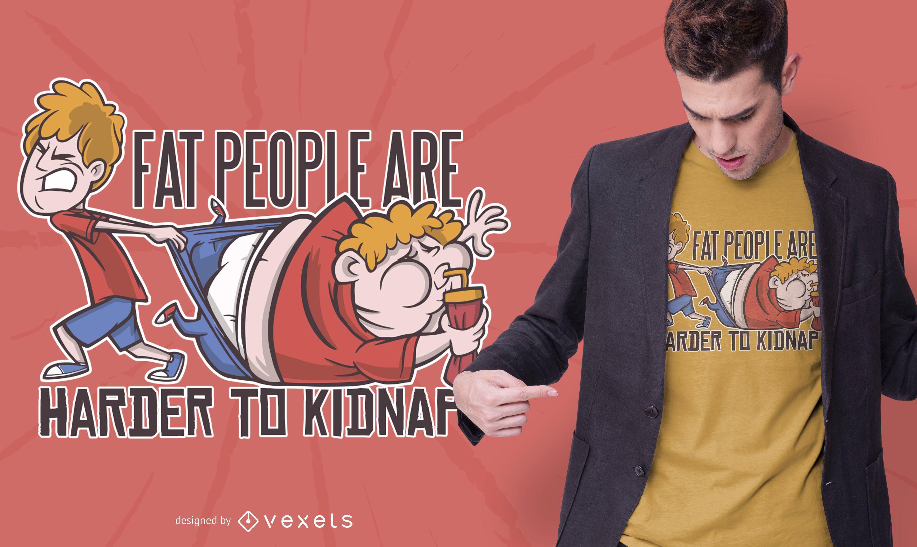 Diseño de camiseta divertida de gente gorda