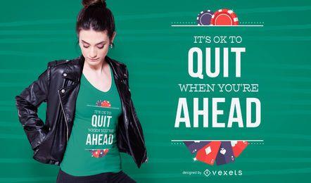 Design de t-shirt de citação de cassino