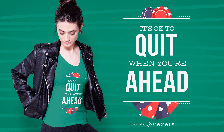 Casino quote t-shirt design