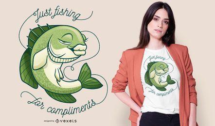 Diseño de camiseta de pez bajo sexy