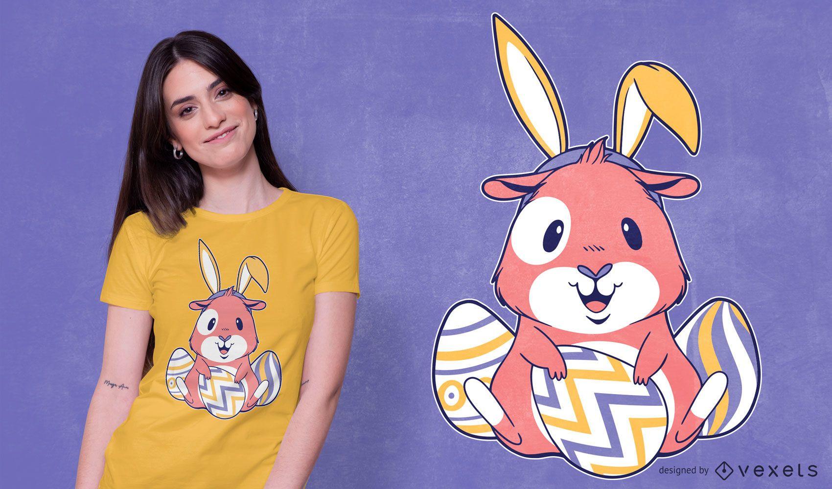 Dise?o de camiseta de conejillo de indias de Pascua