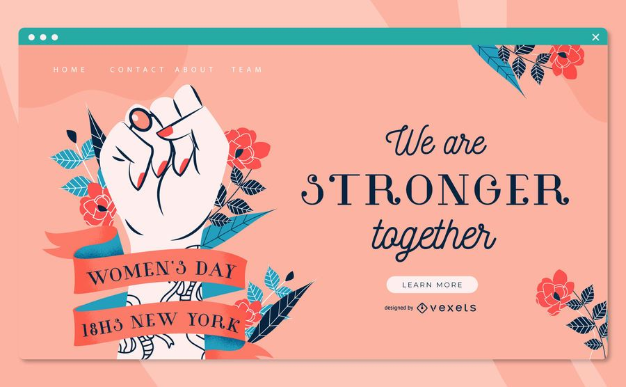 Women's day landing page template