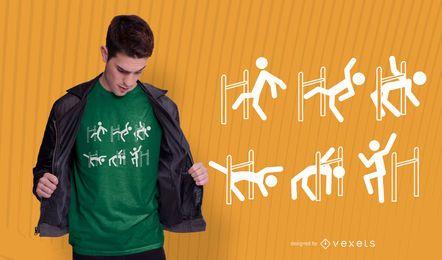 Diseño de camiseta de baile limbo