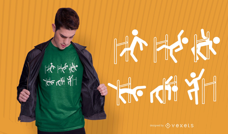 Limbo dance t-shirt design