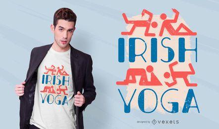 Design de t-shirt de ioga irlandês