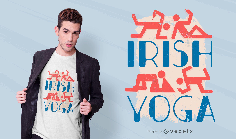 Irish yoga t-shirt design