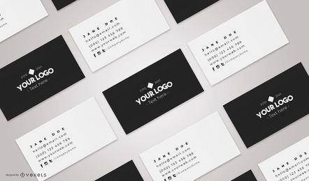Composição da maquete de cartões de visita