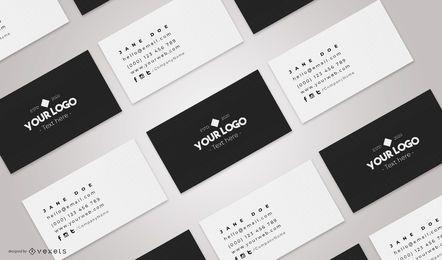 Composição de maquete de cartões de visita