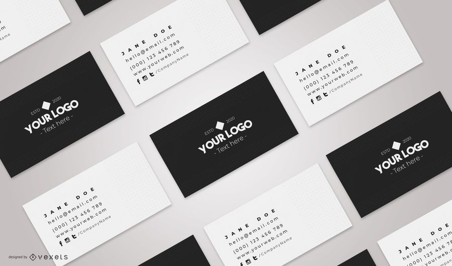 Business cards mockup composition