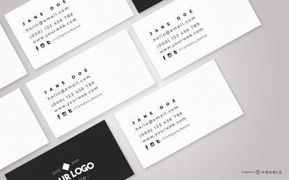 Maquete de composição de cartões de visita