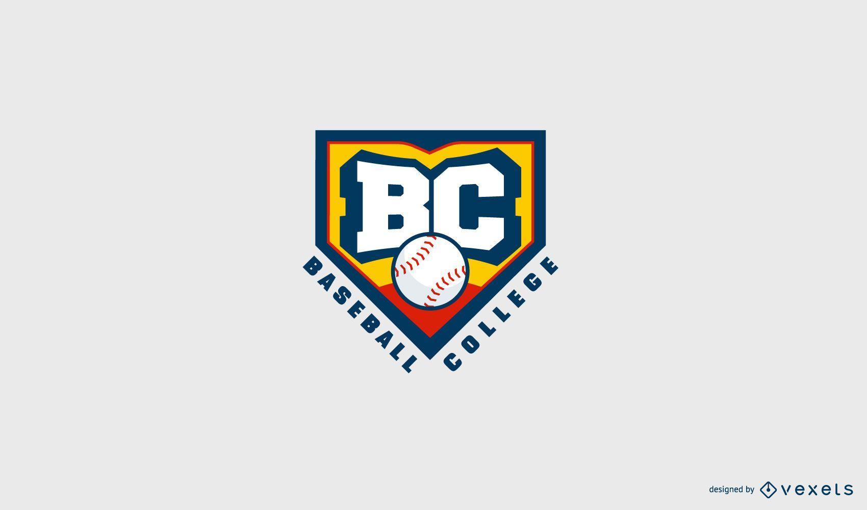 Plantilla de logotipo de la universidad de b?isbol