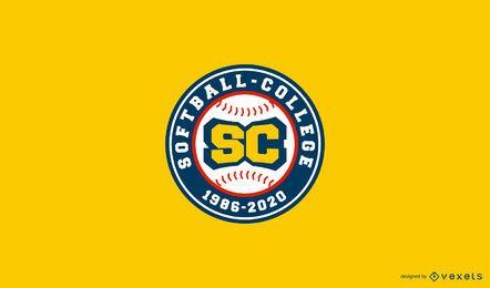 Design de logotipo do Softball College