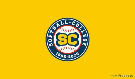 Softball College Logo Design