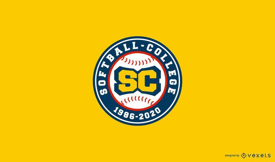 Diseño de logotipo de Softbol College