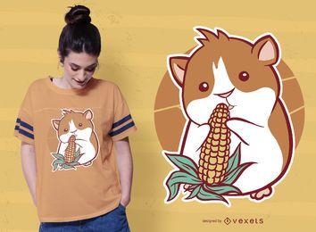 Design de t-shirt de milho de cobaia