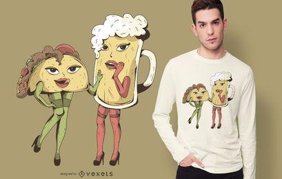 Sexy Taco Bier T-Shirt Design