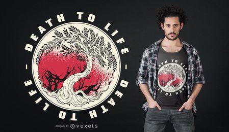 Morte à vida design de t-shirt