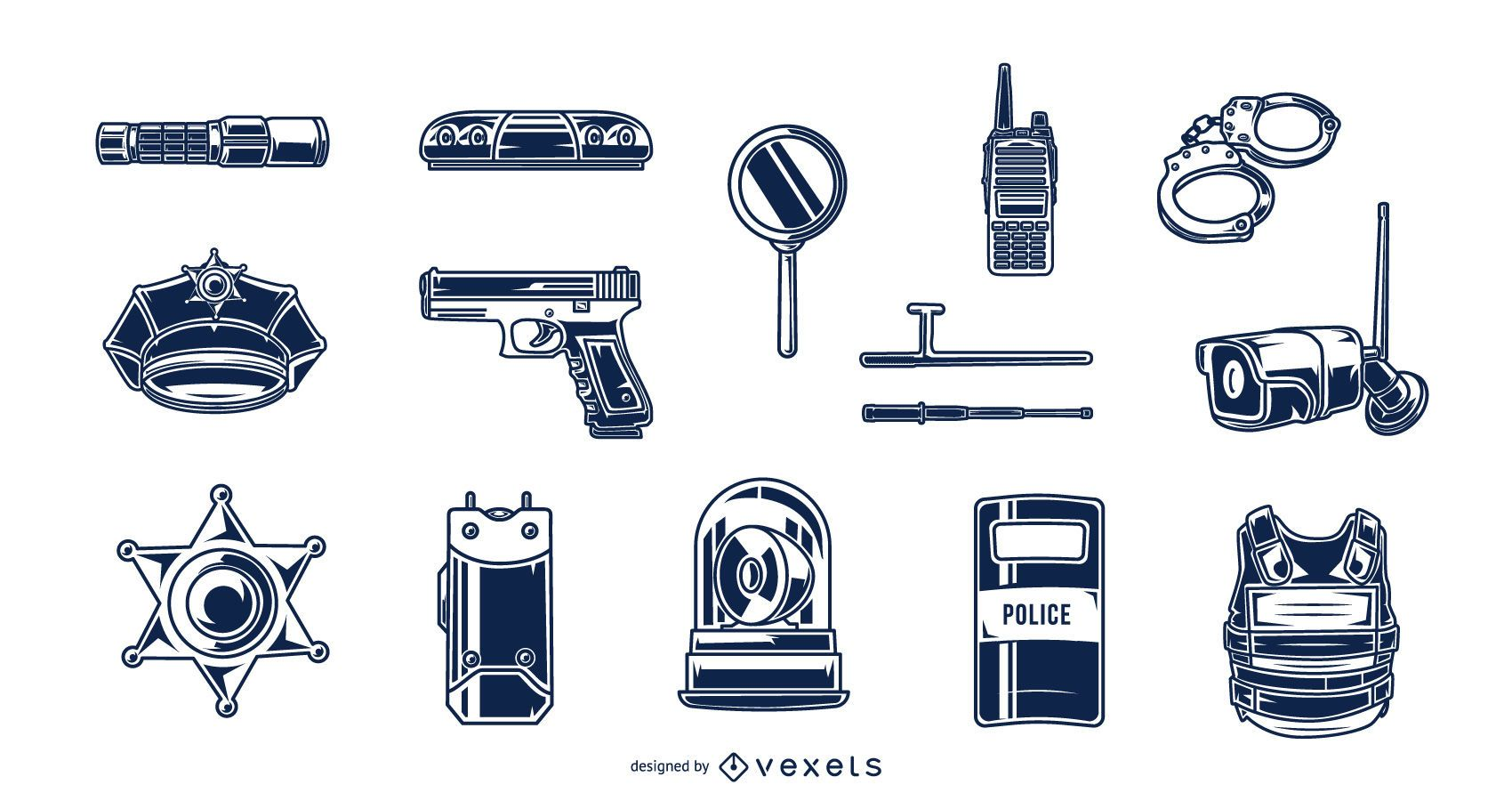 Police Elements Silhouette Pack