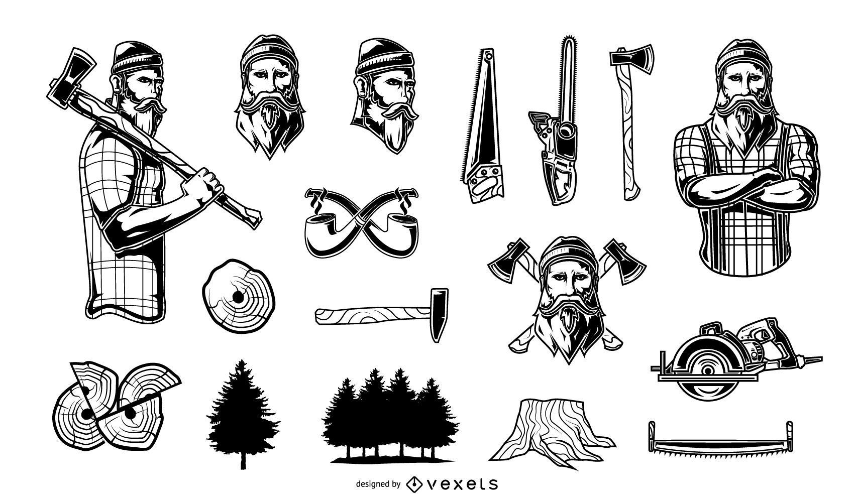 Lumberjack Vintage Monocolor Elements Collection