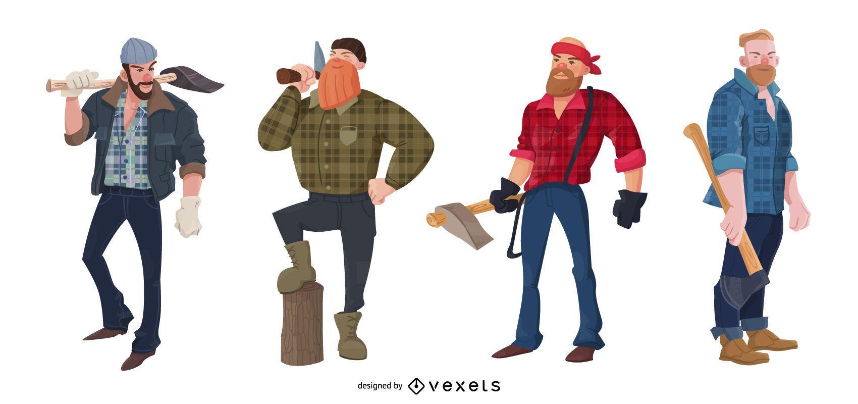 Lumberjack Character People Pack