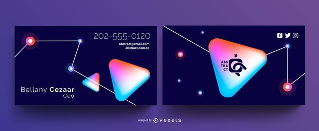 Abstract Technology Business Card Template