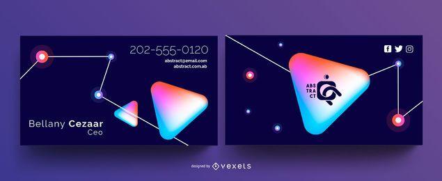 Plantilla de tarjeta de visita - tecnología abstracta